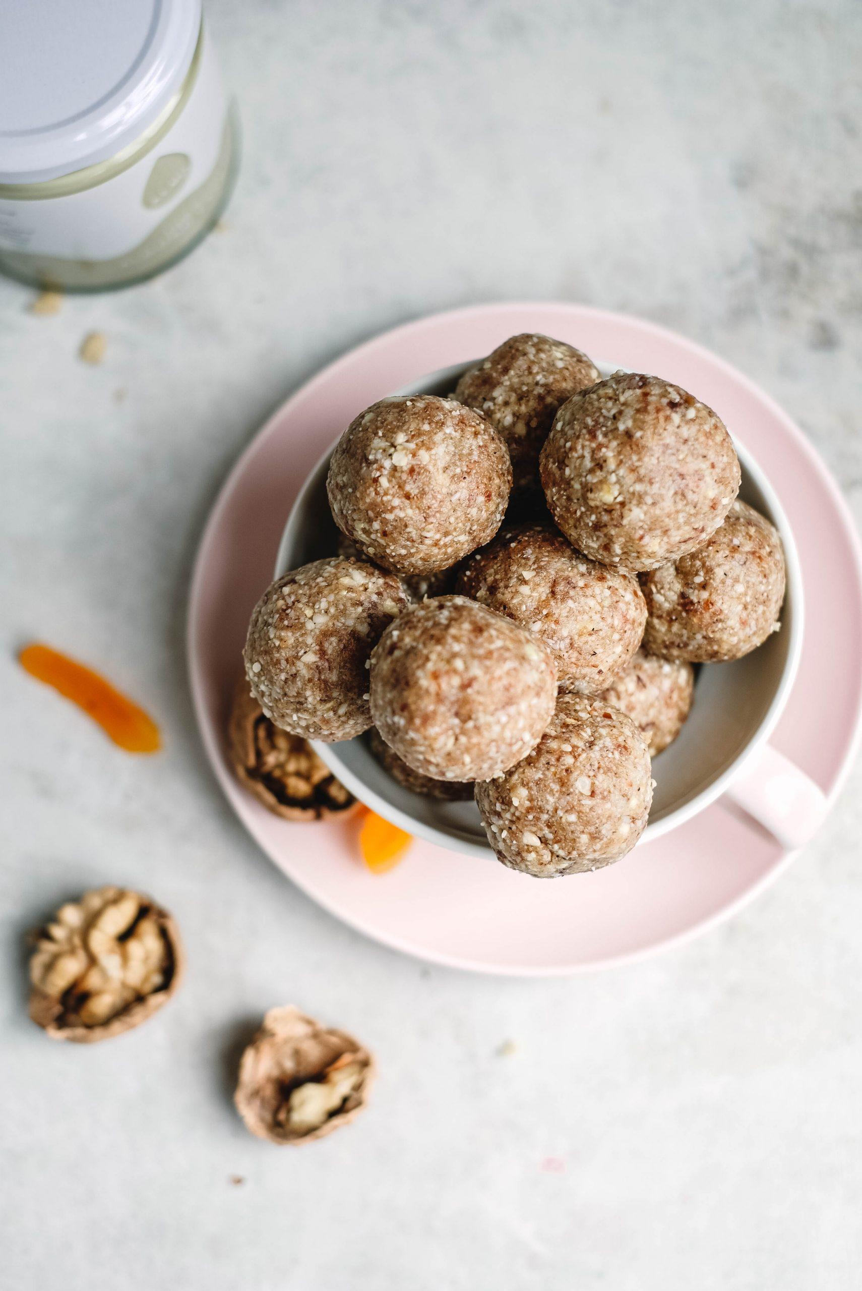 Walnut Apricot Protein Balls