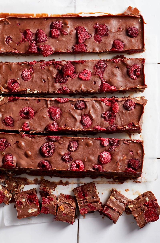 Chocolate Almond Raspberry Fudge