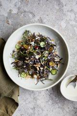 Purple Mizuna & Grape Salad